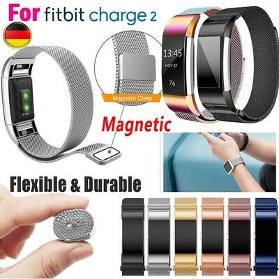 für Fitbit Charge 2 Armband Milanese Edelstahl Replacement Wrist Strap Watchband