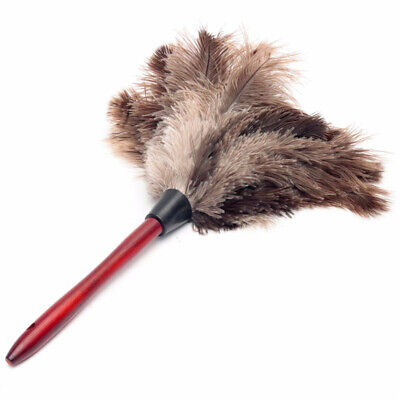 Feather Duster Wooden Handle Natural-fall Ostrich-feather Household Dust Cleaner