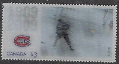 Canada, 2009 Montreal Canadiens 100th Anniv $3 Motionstamp- Sc #2340a Richard