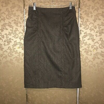 Women's Clothing Skirts New Fashion Nanette Lepore Shenanigan Beige Ruched Pencil Skirt Size 4