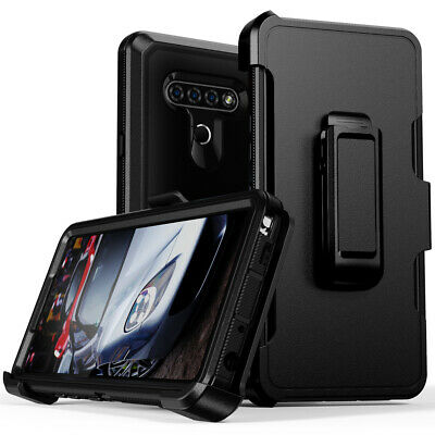 LG Stylo 4/Stylo 5 Plus Rugged Armor Case + Belt Clip Fit Otterbox Defender