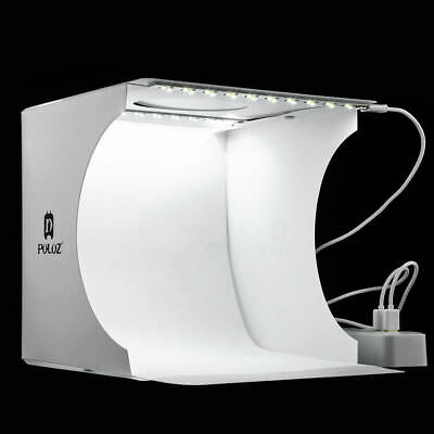 Double LED Light Room Photo Studio Photography Lighting Tent Backdrop Box DD