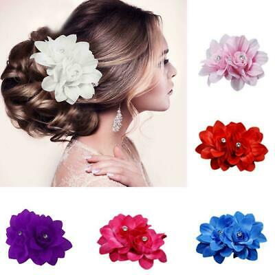 Beautiful Bridal Rose Flower Hairpin Floral Hair Clip for