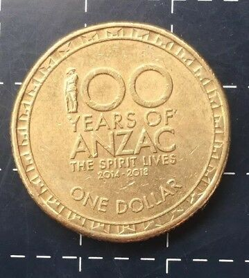 2016 Australian $1 One Dollar Coin - 100 Years Of Anzac The Spirit Lives