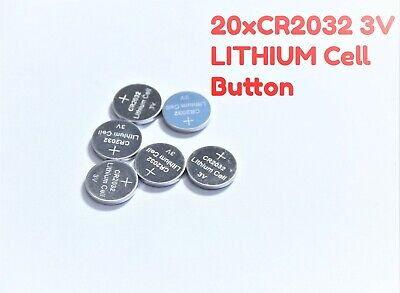 20 xCR2032 3V LITHIUM 220MAH CELL Button Battery Car Key Toy Tray Pack AU Stock
