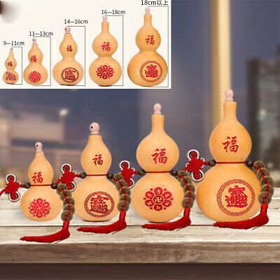 Natural Gourd Ornaments Home Craft Decor Ornaments Dried Bottle with Tassel Gift