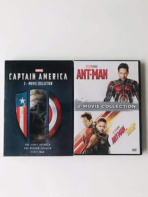 Marvel Lot Captain America3-Movie Collection 1 2 3 ANT-MAN AND THE WASP DVD