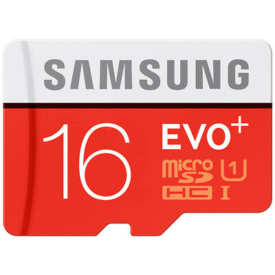 Samsung 16GB EVO+ Micro SD Card SDHC UHS-I Class 10 TF Memory Card FAST 2019 NEW