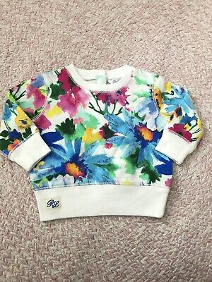 New Baby Girl Ralph Lauren Floral Crew Neck Jumper Size 3M And 6M