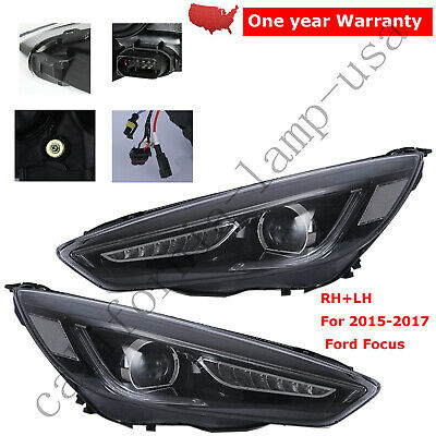 2PCS FOR 2015 2016 2017 Ford Focus Headlight Led DRL Halo