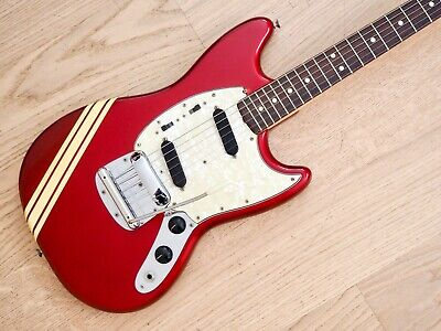 1971 FENDER MUSTANG Vintage Offset Electric Guitar Compeion Red 100% on