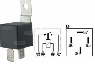 New High Performance Relay Switch 24V 40A 4 Terminal With Bracket Cargo 160240