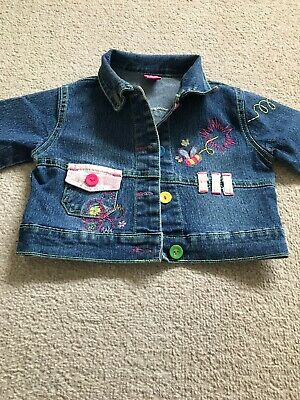 Shijia Age 1 Little Girls Denim Jacket Pit To Pit Measures 13 Inches