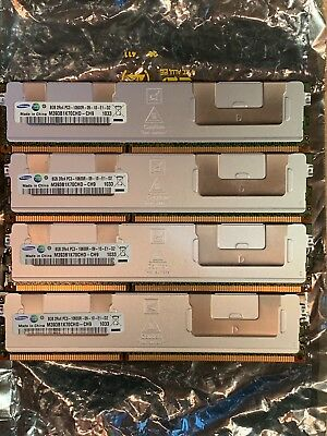 4x 8GB (32GB total) Samsung DDR3 PC3-10600R 1333MHz ECC RAM