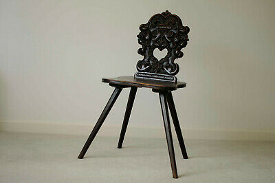 Mahogany Hall Chair - Genuine Antique