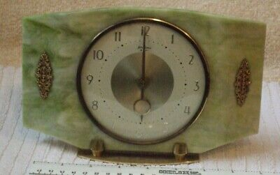 VINTAGE BENTIMA ART DECO  ** 8 Day MANTLE CLOCK ** MADE IN FRANCE - LOOKS GREAT