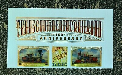 2019USA Forever Transcontinental Railroad - Header Strip of 3  Mint  trains