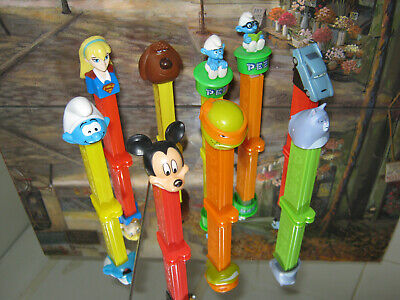 Pez Dispensers Disney X9  Various Collectible Characters