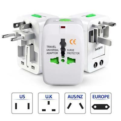 US to EU Europe and Universal AC Power Plug World Travel Adapter Converter AC