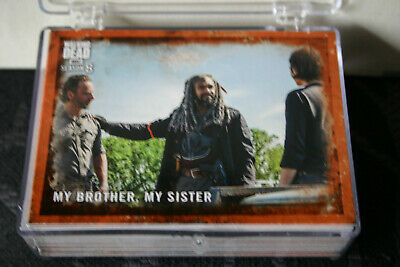 2018 Topps THE WALKING DEAD Season 8 Base Set cards RUST Parallel You Pick!