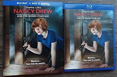 Nancy Drew And The Hidden Staircase Blu-Ray Dvd Slipcover No Digital Like New!