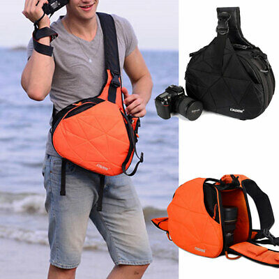 DSLR SLR Camera Bag Insert Padded Lens Pouch Triangle Bag Crossbody Chest Pack