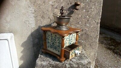 Vintage French Pine Coffee Grinder