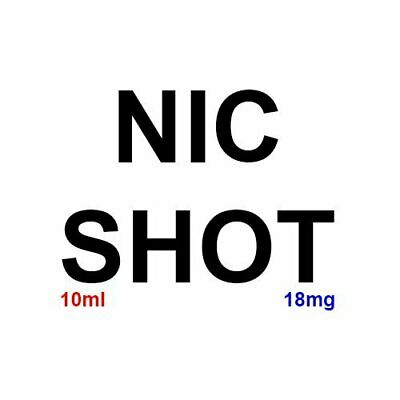 NicBase Nicotine Shots 18mg Nic Shots e liquid 100 BASE 100% VG 10ml Premium-UK