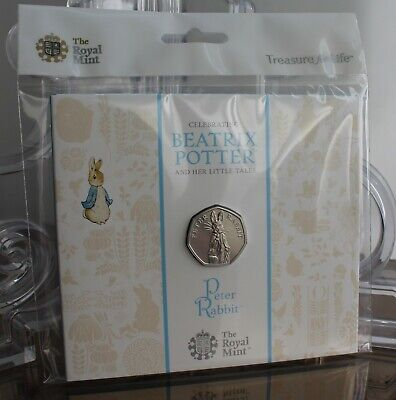 2019 Royal Mint Beatrix Potter Peter Rabbit BU 50p Fifty Pence Coin Pack Sealed