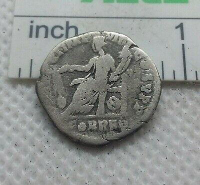 Original Ancient ROMAN SILVER COIN denarius imperator Commodus  138-161 AD. #549