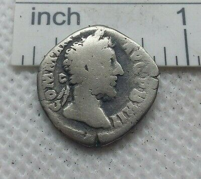 Original Ancient ROMAN SILVER COIN denarius imperator Commodus  138-161 AD. #568