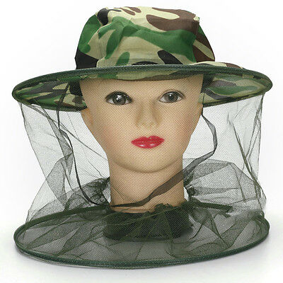 Travel Camping Kits Hats Mosquito Insect Hat Bug Mesh Head Net Face Protector HF