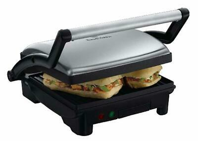 Panini Press Sandwich Grill Nonstick Toaster 3 In 1 Griddle Stainless Steel