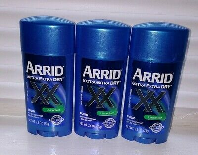 3 Pack - ARRID XX Anti-Perspirant Deodorant Solid Unscented 2.6 oz Each