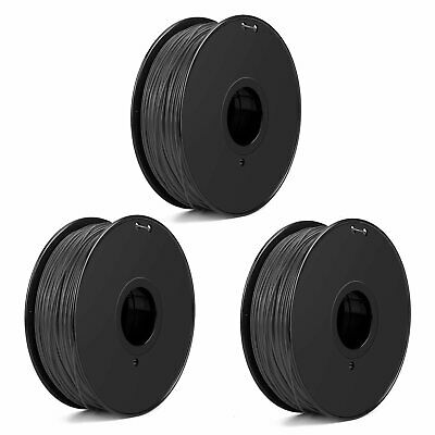 3d Printer Consumables Computers/tablets & Networking Responsible 4 Pack Black 1kg 335m Spool 1.75mm Pla 3d Printer Stable Print Material Filament