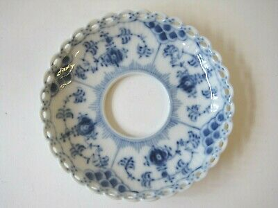 Royal Copenhagen Blue Fluted Full Lace Bobeche Candle Rings Wax Catchers #1009