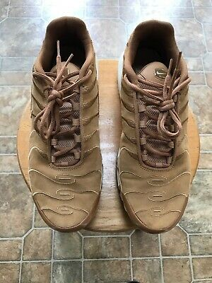 sports shoes 03293 d6286 Nike Air Max Plus TN Tuned 1 EF Wheat Flax Suede Sail White Size 10