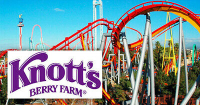 Knotts Berry Farm General Admissions - 4X Single Day E-Tickets! - Great Value!