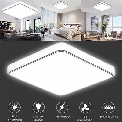 12/18/24W Square LED Ceiling Down Light Flush Mount Kitchen Bedroom Fixture Lamp