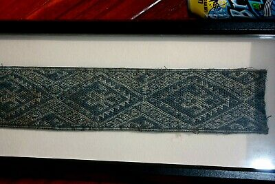 Pre Columbian Moche Band Textile Framed Museum Quality