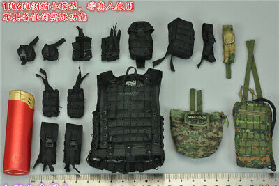 DAMTOYS OSN Saturn Jail Spetsnaz Black Hard Shell Elbow Pads loose 1//6th scale