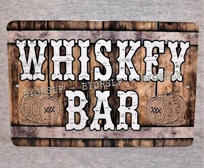 "Metal Sign WHISKEY BAR whisky pub tavern lounge saloon alcohol club 8"" x12"""