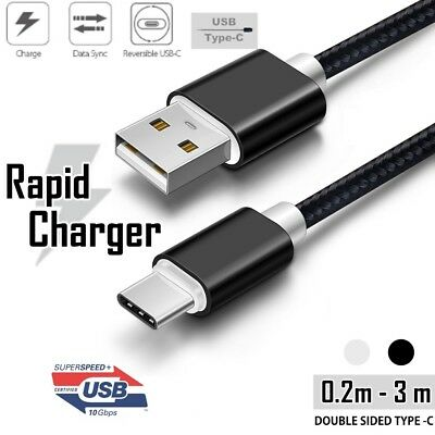 Braided Fast USB 3.1 Type C USB-C to Male Data Cable Google Oneplus Samsung Note