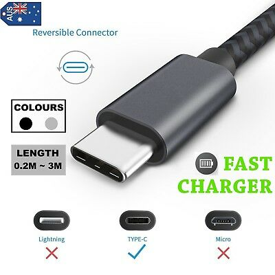 Type-C USB-C 3.1 Male Data Snyc FAST Charger Charging Cable LG SONY HUAWEI Nokia