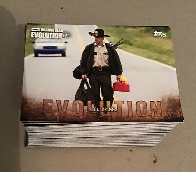 Topps Walking Dead Trading Cards Evolution 100 Card Base Set