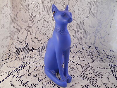 "Ancient Egyptian Blue Bastet Cat Goddess 6""  figurine."