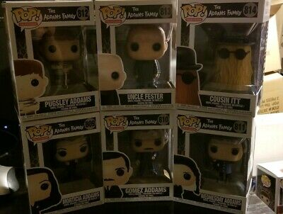 Funko Pops The Addams Family Complete Set  #809 #810 #811 #812 #813 #814