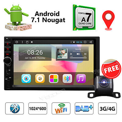 Android 7.1 Double 2Din 7in HD In Dash Car GPS Navi Auto Radio Stereo MP5 Player