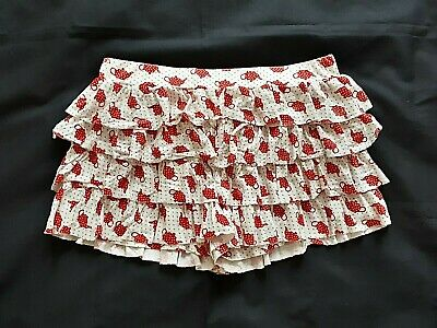 PETER ALEXANDER Ladies Sleep Shorts Size M/ US 8 Ruffled Frilly Good Condition