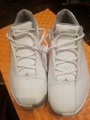 3052b8fa0ede New Nike Air Jordan TE Team Elite 2 Low Size 10 White Metalic Silver 310011  105